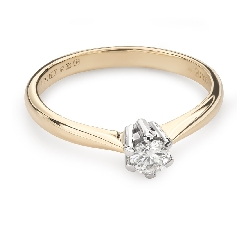 """Engagement ring with brilliant """"The queen 42"""""""