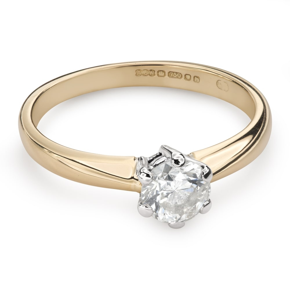 """Engagement ring with brilliant """"The only one 116"""""""