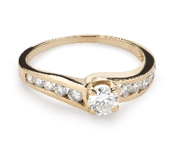 "Engagment ring with brilliants ""Grace 126"""
