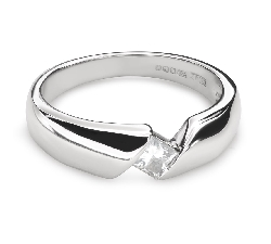 "Engagement ring with diamond ""Between the rocks 35"""
