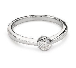 "Engagement ring with brilliant ""Between the rocks 36"""
