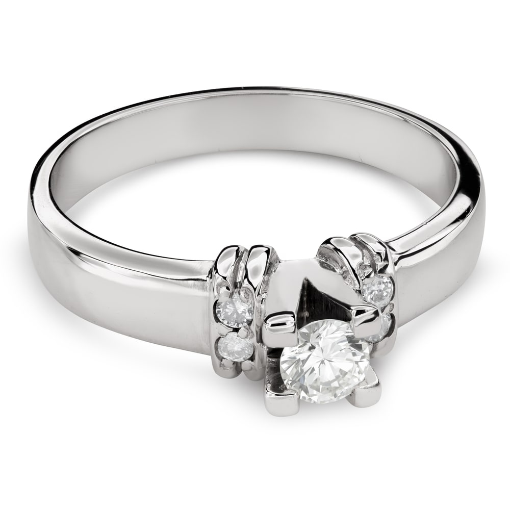 """Engagment ring with brilliants """"Grace 127"""""""