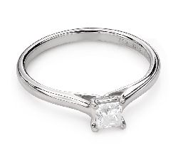 "Engagement ring with diamond ""Princess 92"""