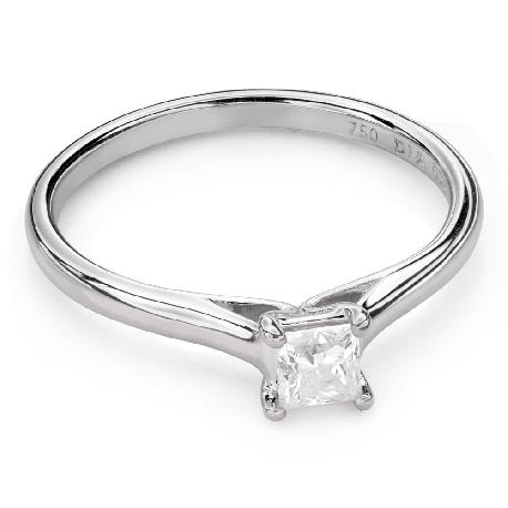 "Engagement ring with diamond ""Princess 92"""