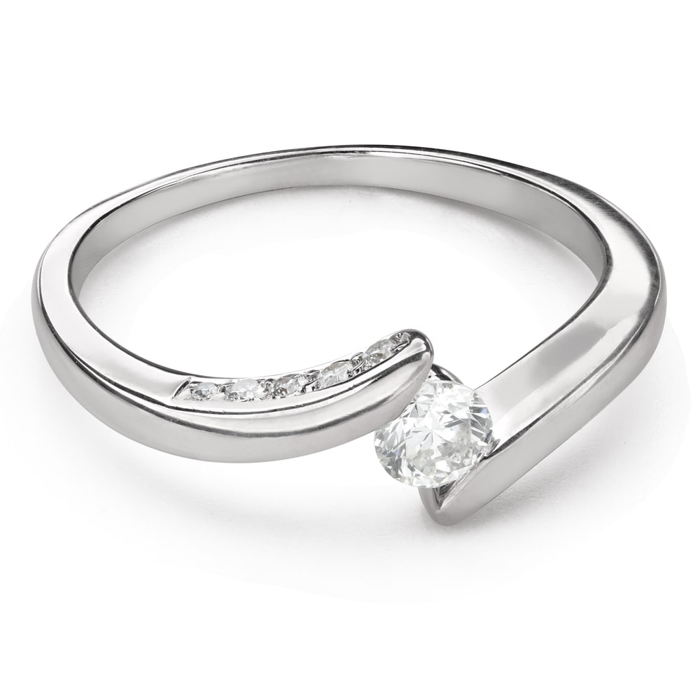 """Engagment ring with brilliants """"In love 52"""""""