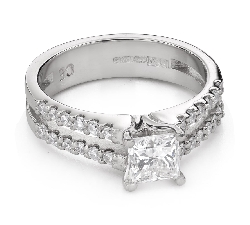 "Engagement ring with diamonds ""Princess 93"""