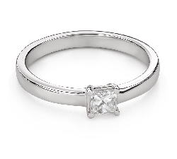 "Engagement ring with diamonds ""Princess 94"""