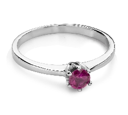 "Engagement ring with gemstones ""Colors 84"""
