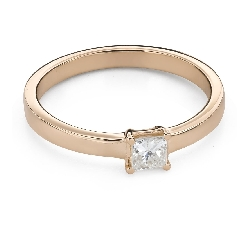 """Engagement ring with diamonds """"Princess 96"""""""