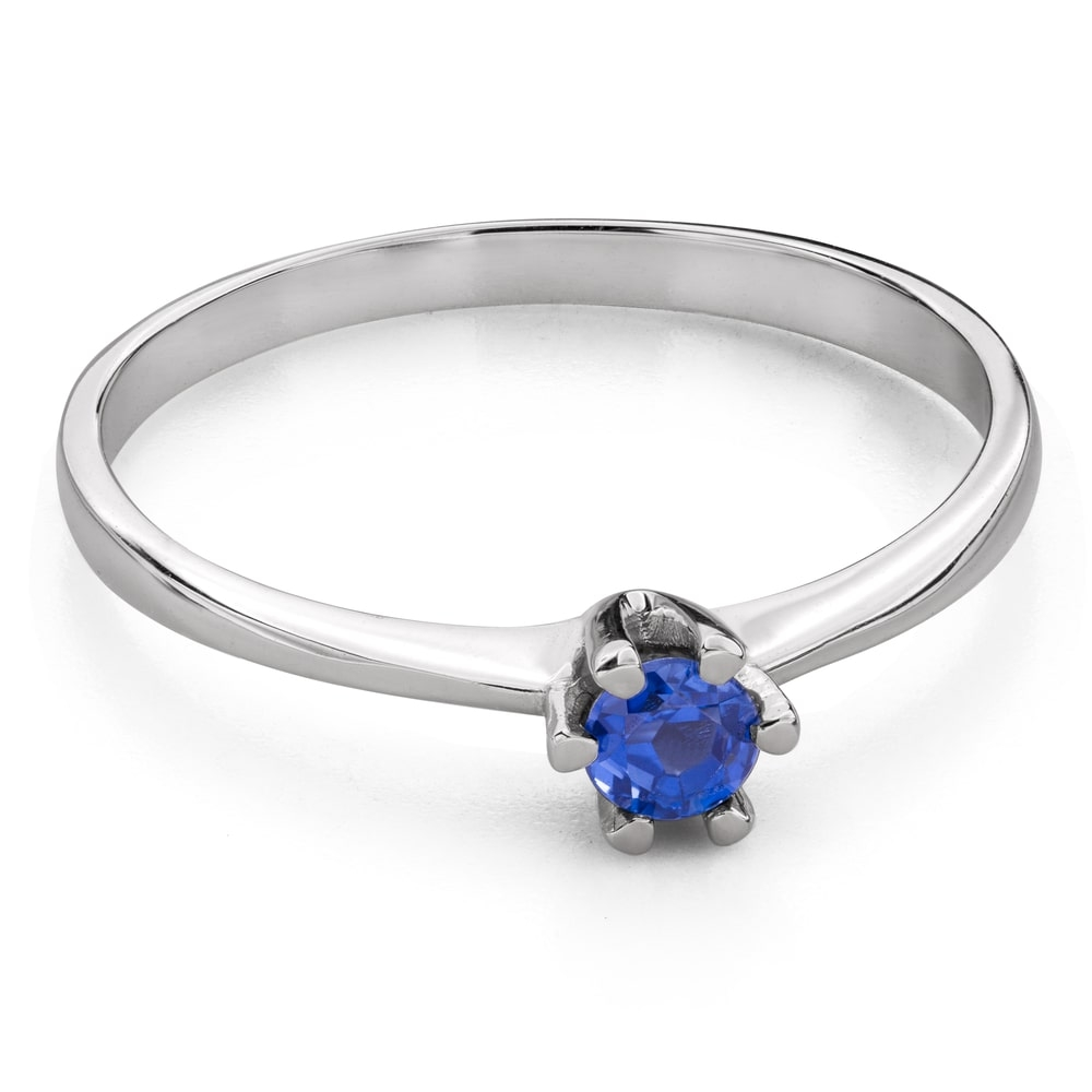 """Engagement ring with gemstones """"Colors 85"""""""