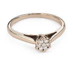 "Engagment ring with brilliants ""Lover 134"""