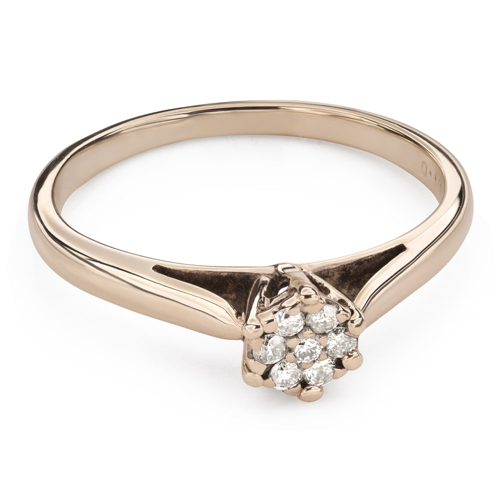 """Engagment ring with brilliants """"Lover 134"""""""