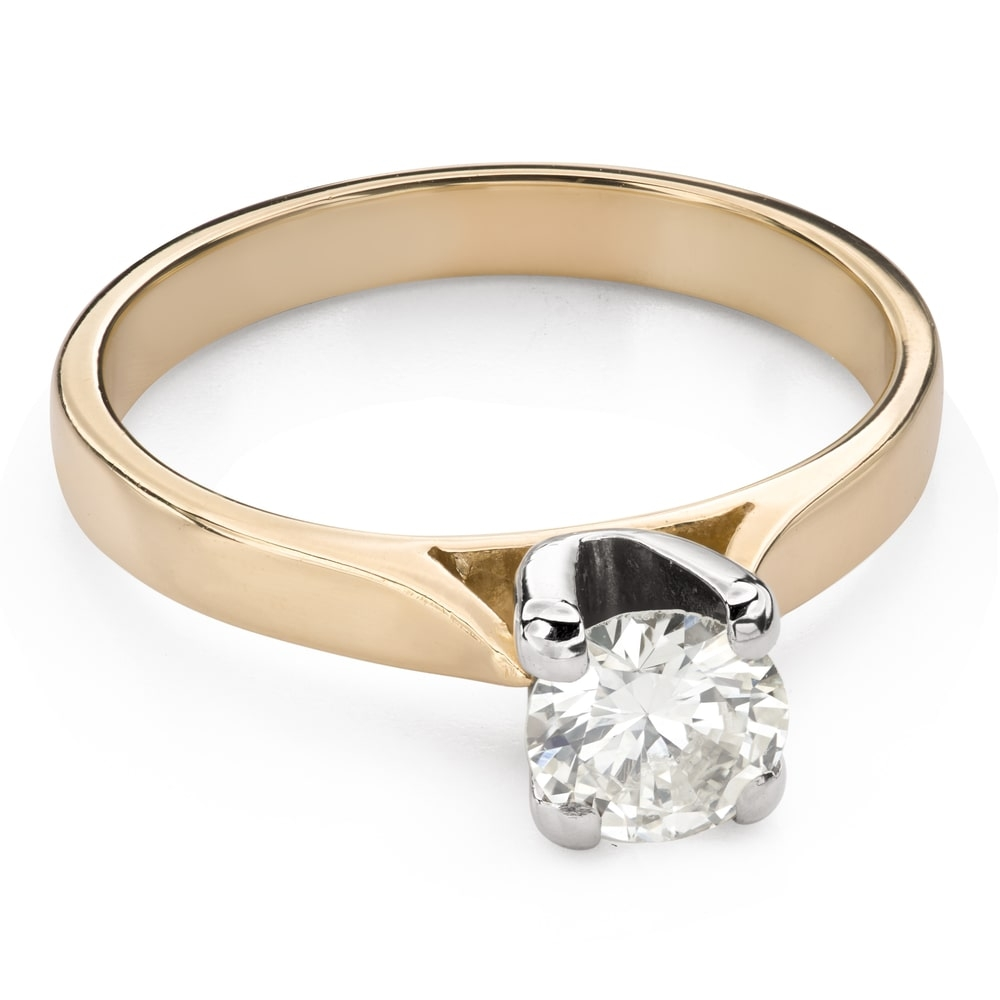 """Engagement ring with brilliant """"Goddess 140"""""""
