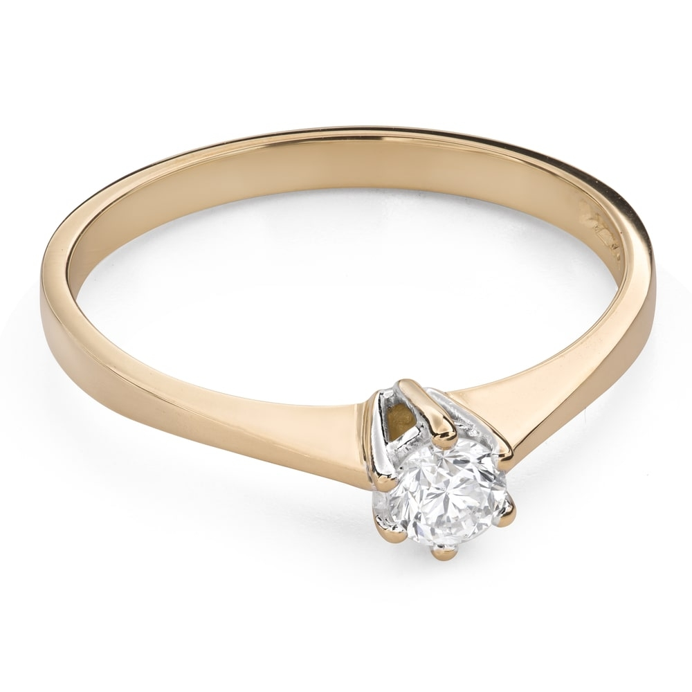 """Engagement ring with brilliant """"The only one 123"""""""