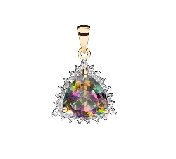 "Gold pendant with gemstones ""Colors 88"""