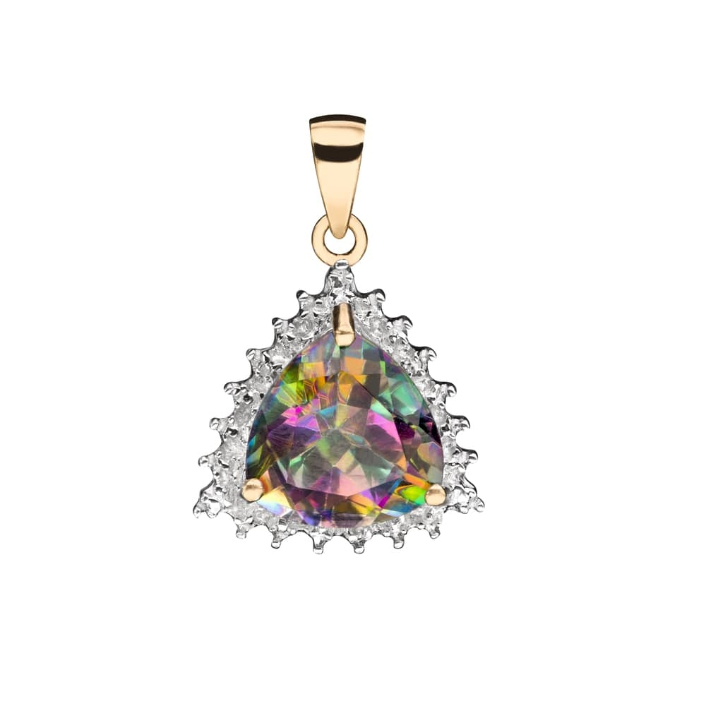 """Gold pendant with gemstones """"Colors 88"""""""