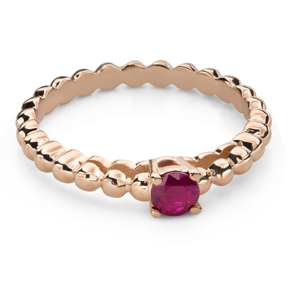 """Gold ring with gemstones """"Colors 89"""""""