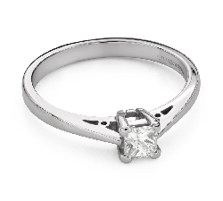 """Engagement ring with diamonds """"Princess 98"""""""