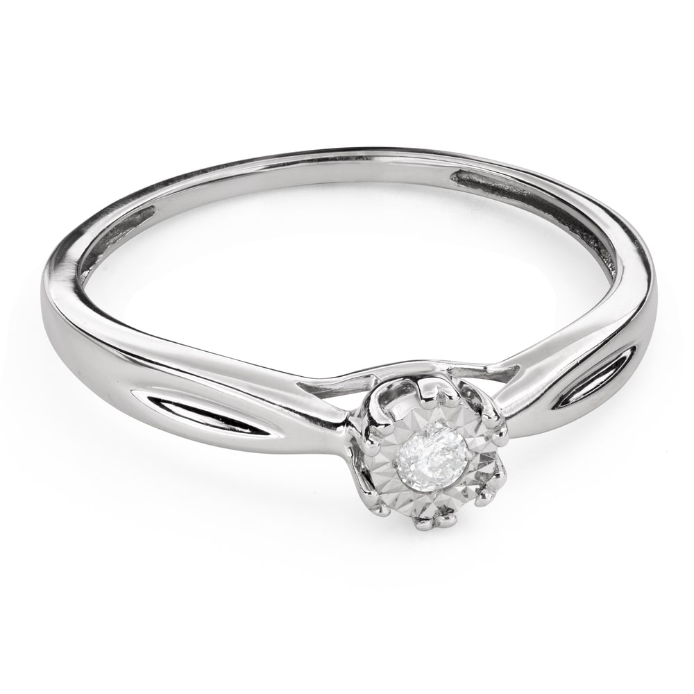 """Engagement ring with brilliant """"Lover 136"""""""