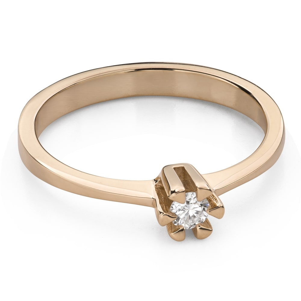 """Engagement ring with brilliant """"The queen 44"""""""