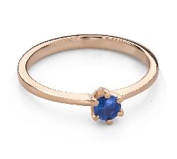 """Auksinis žiedas su brangakmeniais """"Spalvos 90"""""""