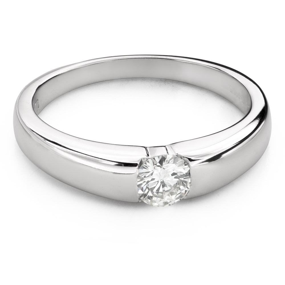 """Engagement ring with brilliant """"Between the rocks 38"""""""