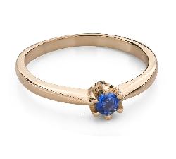 """Auksinis žiedas su brangakmeniais """"Spalvos 93"""""""