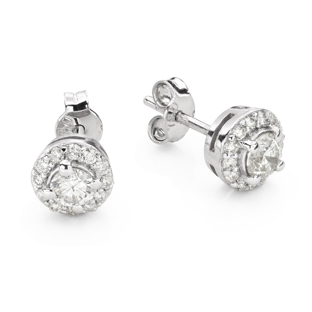 """Gold earrings with brilliants """"Classic 54"""""""