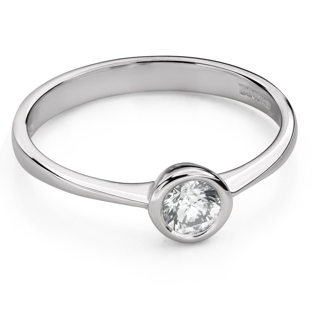 """Engagement ring with brilliant """"Between the rocks 39"""""""
