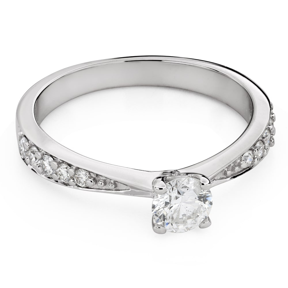 """Engagment ring with brilliants """"Grace 134"""""""