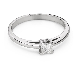 "Engagement ring with diamonds ""Princess 100"""