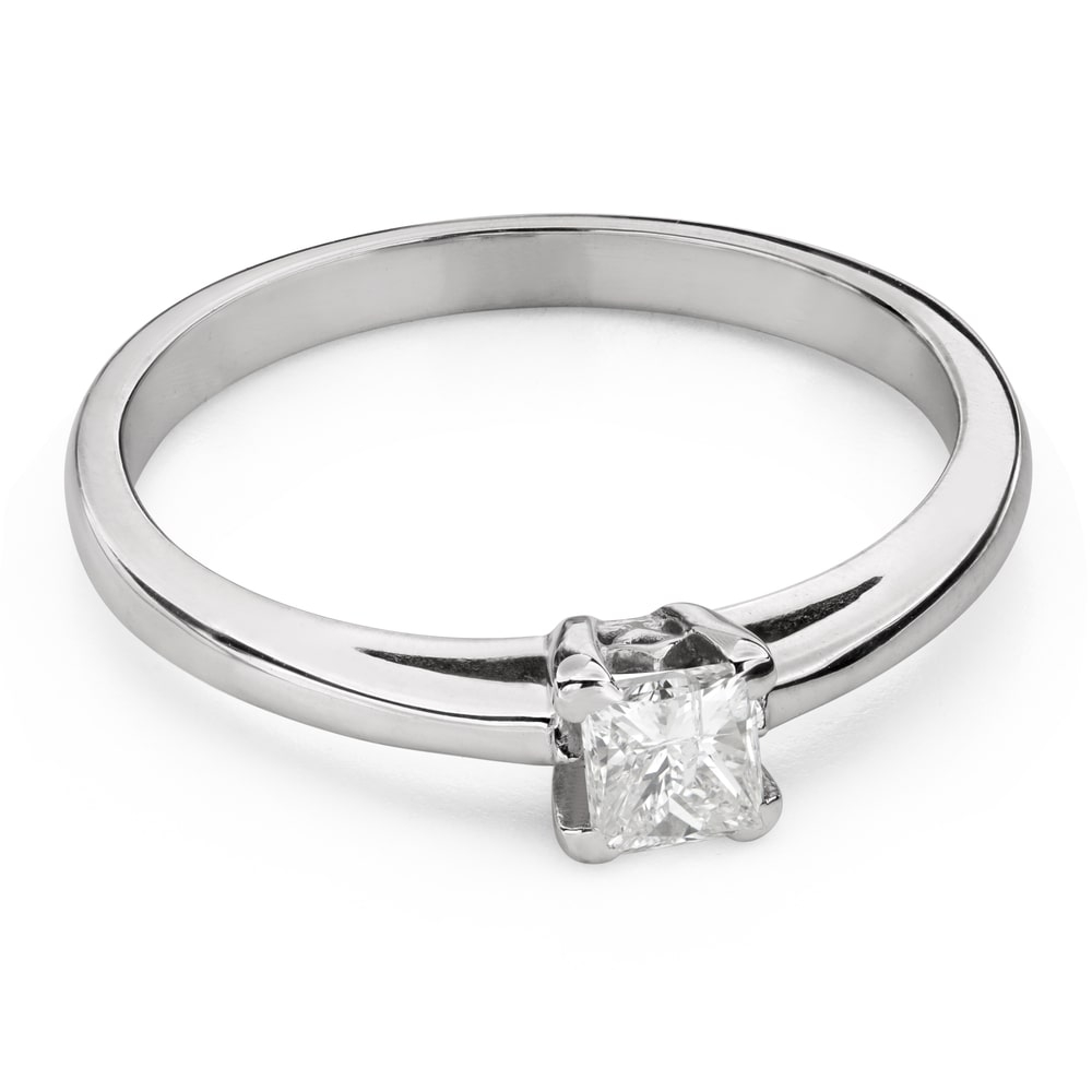 """Engagement ring with diamonds """"Princess 100"""""""