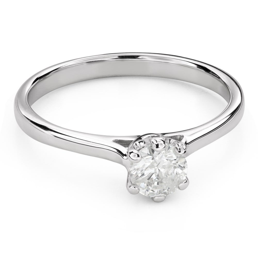 """Engagment ring with brilliants """"Intertwined destinies 52"""""""