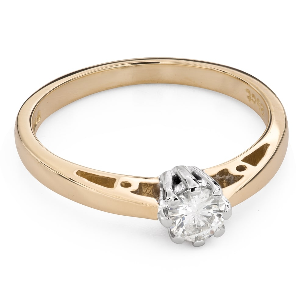 """Engagement ring with brilliant """"The only one 127"""""""