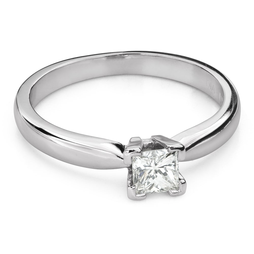 """Engagement ring with diamonds """"Princess 102"""""""