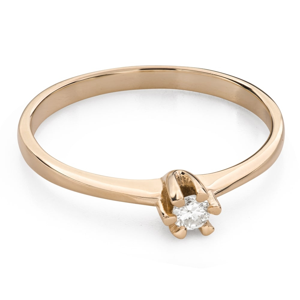 """Engagement ring with brilliant """"Purity 42"""""""
