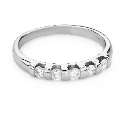 "Engagment ring with brilliants ""Diamond strip 54"""