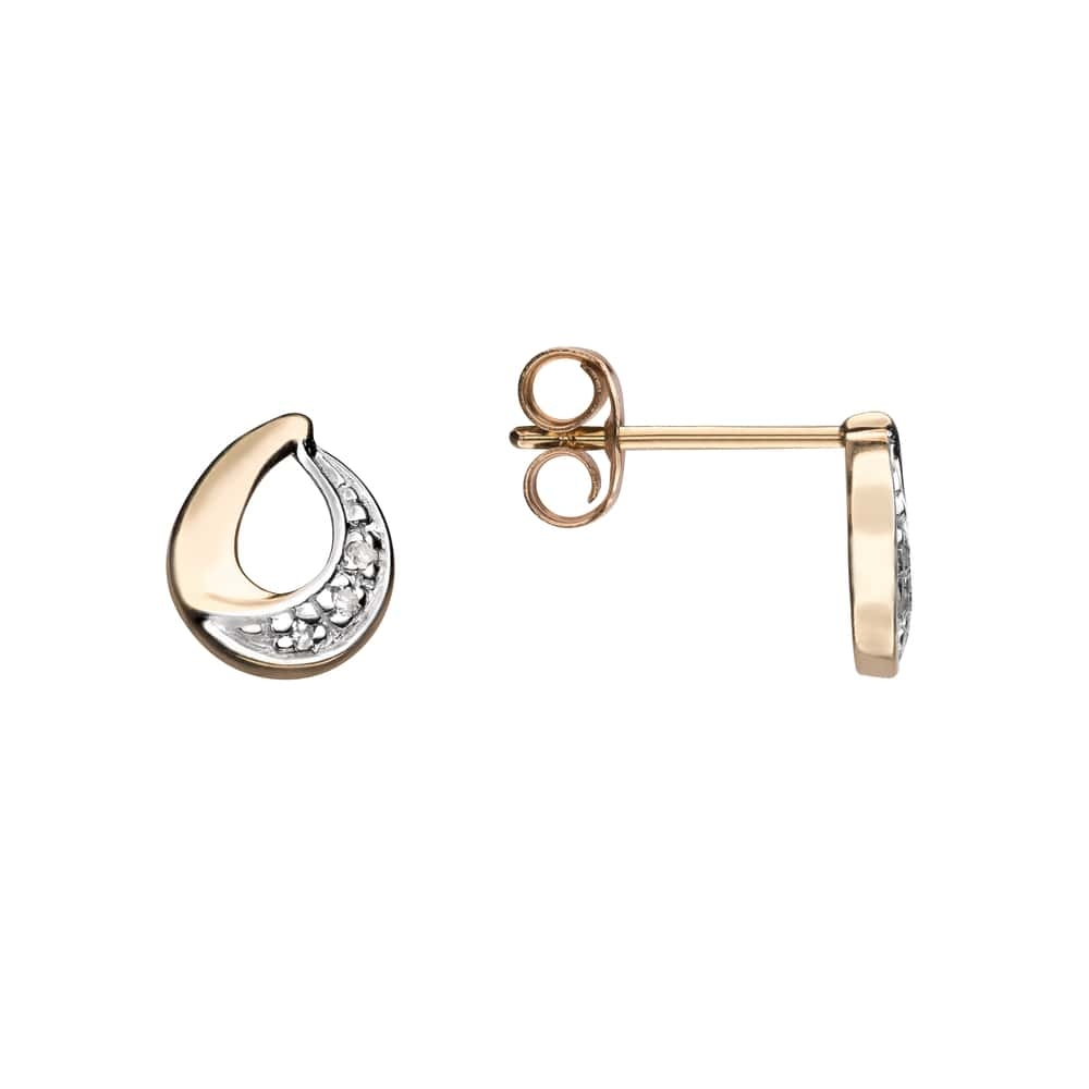 """Gold earrings with diamonds """"Classic 56"""""""