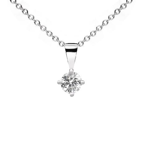 "Gold pendant with brilliant ""Classic 58"""