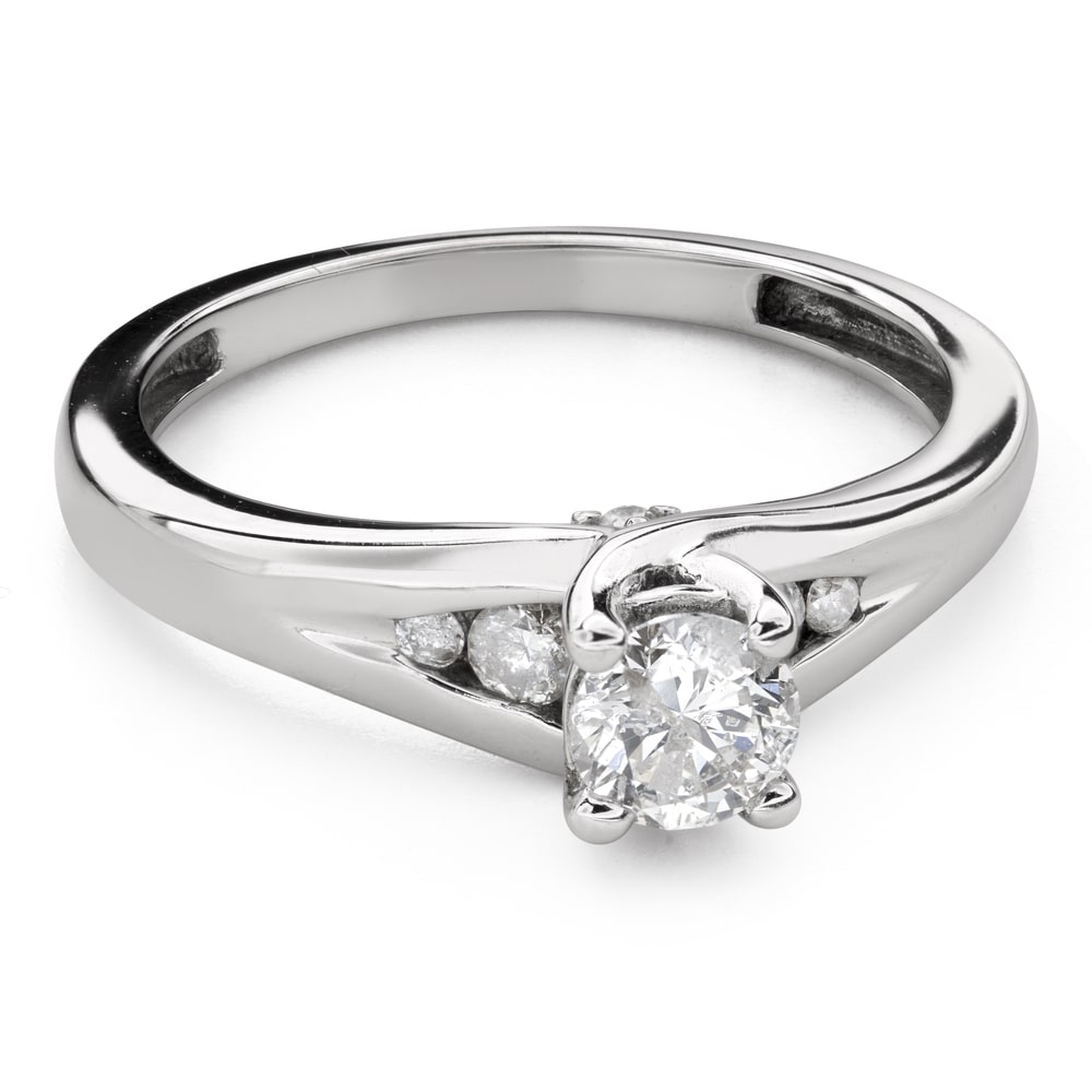 """Engagment ring with brilliants """"Grace 138"""""""