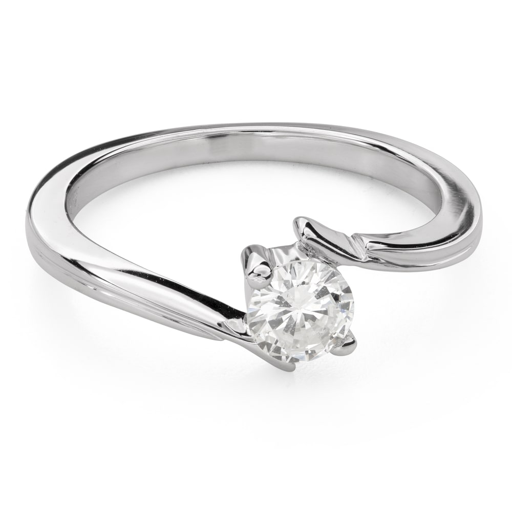 """Engagement ring with brilliant """"Intertwined destinies 53"""""""