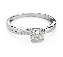"Engagement ring with diamonds ""Lover 140"""