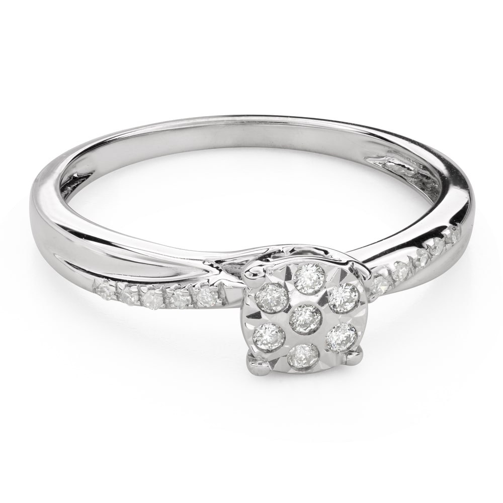 """Engagement ring with diamonds """"Lover 140"""""""