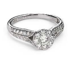 "Engagment ring with brilliants ""Bouquet of diamonds 54"""