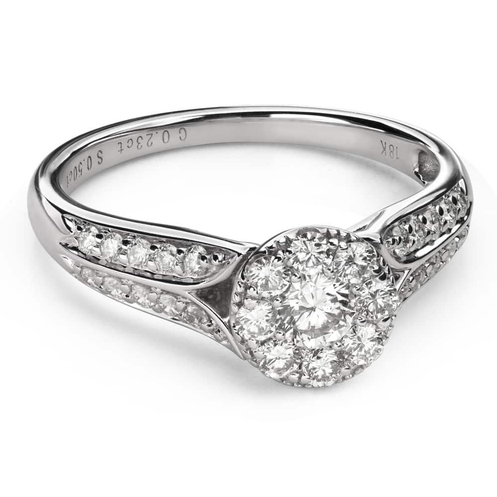 """Engagment ring with brilliants """"Bouquet of diamonds 54"""""""