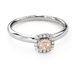 "Engagement ring with diamonds ""Bouquet of diamonds 55"""