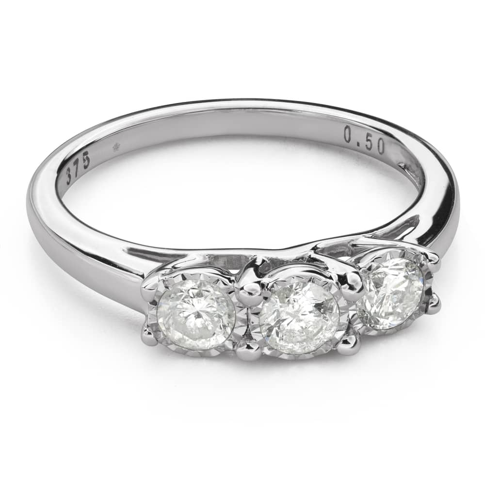 """Engagment ring with brilliants """"Trilogy 40"""""""