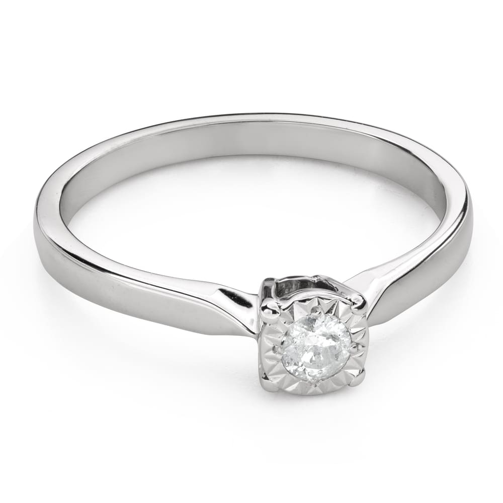 """Engagement ring with brilliant """"Lover 142"""""""