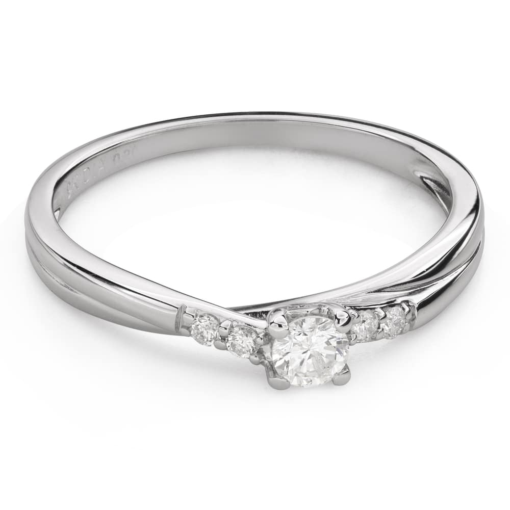 """Engagment ring with brilliants """"Grace 140"""""""