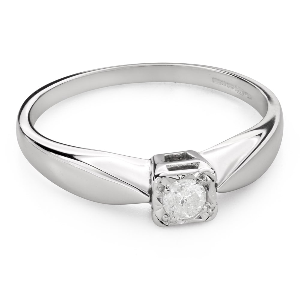 """Engagement ring with brilliant """"Strength 111"""""""